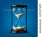 Transparent Vector Sand Clock...
