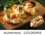 antipasti snacks for wine.... | Shutterstock . vector #1251283903