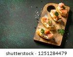 antipasti snacks for wine.... | Shutterstock . vector #1251284479