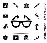 the glasses  spectacles ... | Shutterstock .eps vector #1251289819