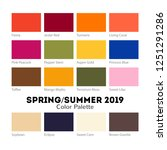 spring and summer 2019 color... | Shutterstock .eps vector #1251291286