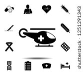 medical helicopter icon. simple ...