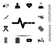 pulse icon. simple glyph vector ...