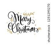 merry christmas. hand drawn... | Shutterstock .eps vector #1251295270