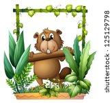 Illustration Of A Beaver...