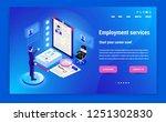 isometric hiring  recruitment... | Shutterstock .eps vector #1251302830