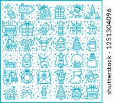 vector icon happy new year and ... | Shutterstock .eps vector #1251304096