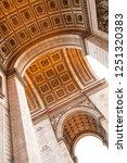 arc de triomphe  paris  france | Shutterstock . vector #1251320383