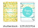 bridal shower card with dots... | Shutterstock .eps vector #1251321916