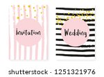 gold glitter sequins with dots. ... | Shutterstock .eps vector #1251321976