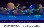 fantasy seamless game landscape.... | Shutterstock .eps vector #1251326383