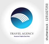 travel agency vector logo design   Shutterstock .eps vector #1251327253