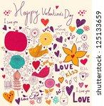 vector art valentine greeting...   Shutterstock .eps vector #125133659