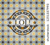 lol  arabic badge background....   Shutterstock .eps vector #1251337993