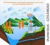 carbon dioxide natural... | Shutterstock .eps vector #1251338263