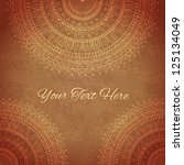 vintage background with... | Shutterstock .eps vector #125134049
