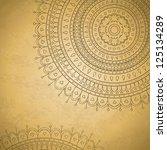 half of mandala ornament with... | Shutterstock .eps vector #125134289
