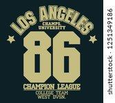 california sport wear t shirt...   Shutterstock .eps vector #1251349186