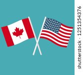flags of america and canada... | Shutterstock .eps vector #1251354376
