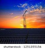 solar panels and pylon | Shutterstock . vector #1251355156