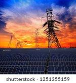 solar panels and pylon | Shutterstock . vector #1251355159