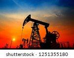 the oil pump  industrial... | Shutterstock . vector #1251355180