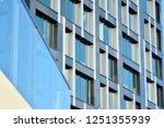 facade fragment of a modern... | Shutterstock . vector #1251355939