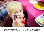 face painting for cute little... | Shutterstock . vector #1251359086