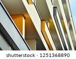 modern apartment buildings on a ... | Shutterstock . vector #1251368890