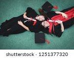 two beautiful asian women lie... | Shutterstock . vector #1251377320