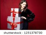 beautiful young pretty woman...   Shutterstock . vector #1251378730