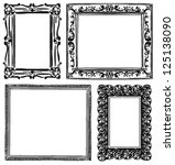 vintage wooden wall frames.... | Shutterstock .eps vector #125138090