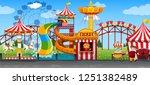 a fun circus template... | Shutterstock .eps vector #1251382489