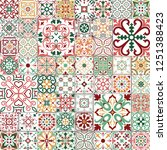 big vector set of tiles in... | Shutterstock .eps vector #1251388423