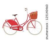 Red Vintage Ladies Bicycle Wit...