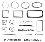 hand drawn infographic elements ... | Shutterstock .eps vector #1251420229