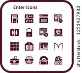 vector icons pack of 16 filled... | Shutterstock .eps vector #1251427933