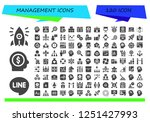 vector icons pack of 120 filled ... | Shutterstock .eps vector #1251427993