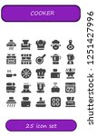 vector icons pack of 25 filled...   Shutterstock .eps vector #1251427996