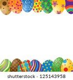 easter egg frame   Shutterstock .eps vector #125143958