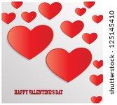 valentine's day vector... | Shutterstock .eps vector #125145410