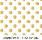 gold polka dots pattern ...   Shutterstock .eps vector #1251454903