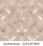 ancient egyptian floral... | Shutterstock .eps vector #1251457843