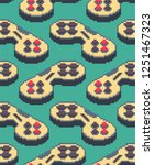 gamepad pixel art pattern... | Shutterstock .eps vector #1251467323