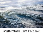 winter sailing. cold blue sea... | Shutterstock . vector #1251474460