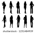 silhouette woman cartoon shape... | Shutterstock .eps vector #1251484939