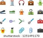 color flat icon set apron flat... | Shutterstock .eps vector #1251491170