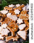 a tasty gingerbread with royal... | Shutterstock . vector #1251495403
