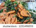 fried fish cake is delicious at ... | Shutterstock . vector #1251498553