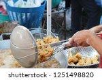 fried chicken is delicious in... | Shutterstock . vector #1251498820